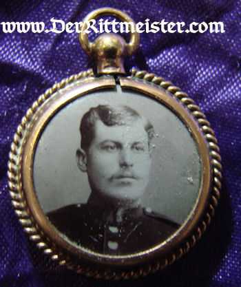 DOUBLE SIDED PATRIOTIC SOLDIER AND TWO SONS' PHOTO PENDANT