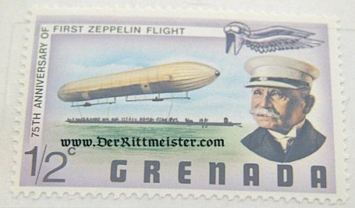 POSTAGE STAMP - GRAF ZEPPELIN AND EARLY ZEPPELIN - 75th ANNIVERSARY FIRST ZEPPELIN FLIGHT(1902-1977) - GRENADA. - Imperial German Military Antiques Sale