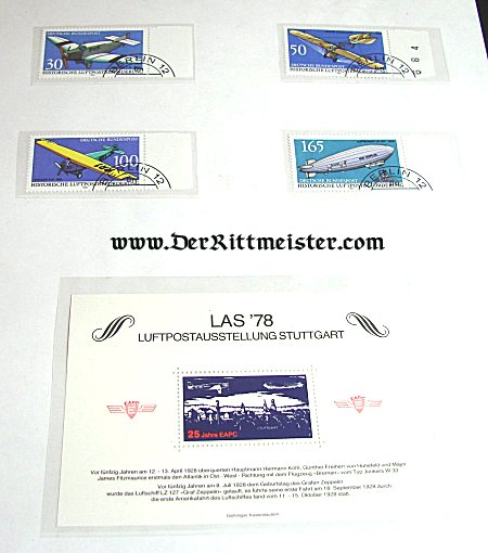 LIECHTENSTEIN - STAMPS - AVATION - BLOCK OF TWENTY - Imperial German Military Antiques Sale