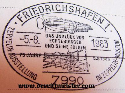 GERMANY - POSTCARD - EARLY ZEPPELIN - LAKE KONSTANZ - FRIEDRICHSHAFEN - Imperial German Military Antiques Sale