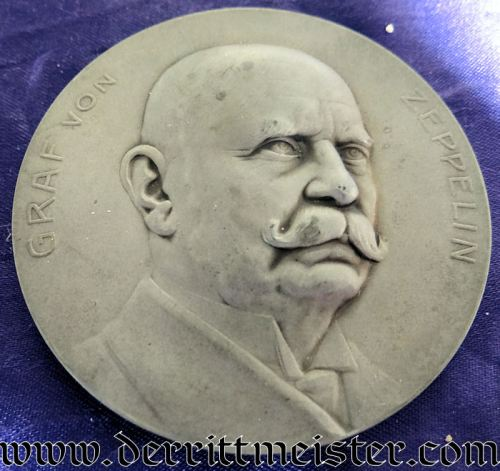 GERMANY - TABLE MEDAL - GRAF ZEPPELIN - Imperial German Military Antiques Sale