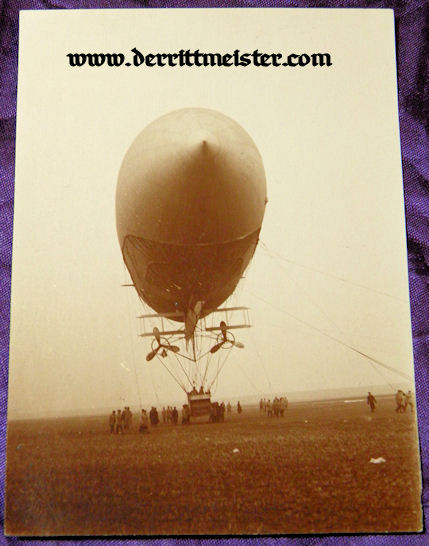 GERMANY - PHOTOGRAPH - UNIDENTIFIED ZEPPELIN - Imperial German Military Antiques Sale