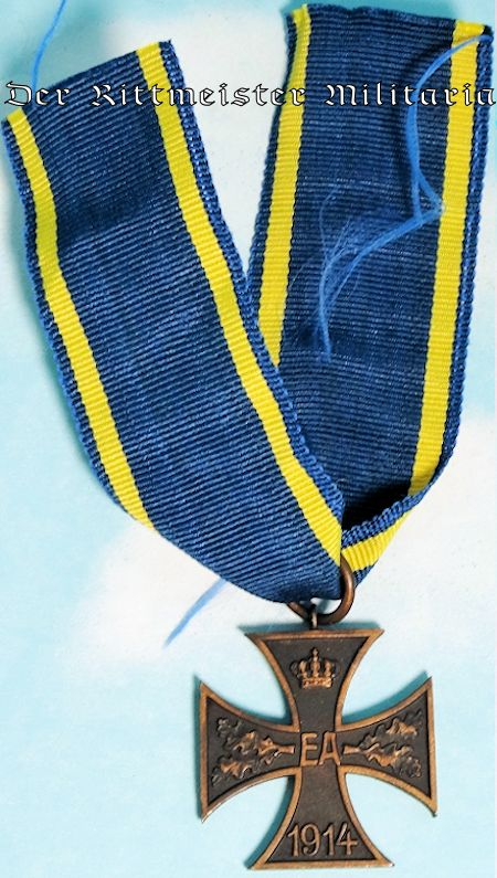 BRAUNSCHWEIG - 1914 KRIEGSVERDIENSTKREUZ  - 2nd CLASS WITH COMBATANTS RIBBON - Imperial German Military Antiques Sale
