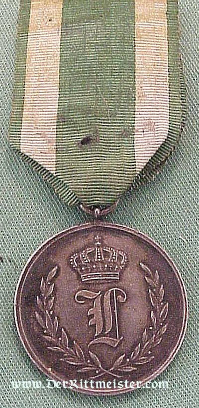 ANHALT- 50-YEAR TRUE SERVICE MEDAL IN SILVER - Imperial German Military Antiques Sale