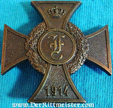 ANHALT - 1914 FRIEDRICH CROSS - 1st CLASS - Imperial German Military Antiques Sale