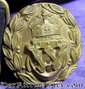 DAILY DUTY NAVY JUNIOR OFFICER'S BELT - BUCKLE AND SWORD HANGERS - Imperial German Military Antiques Sale