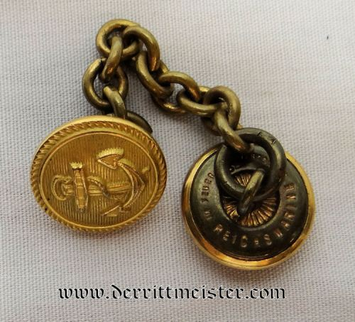 ENLISTED REICHSMARINE SAILOR'S DRESS TUNIC'S EXTENSION BUTTONS - Imperial German Military Antiques Sale