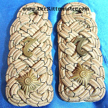 PRUSSIA - SHOULDER BOARDS - OBERSTLEUTNANT - TRAIN-Bataillon Nr 7 - Imperial German Military Antiques Sale