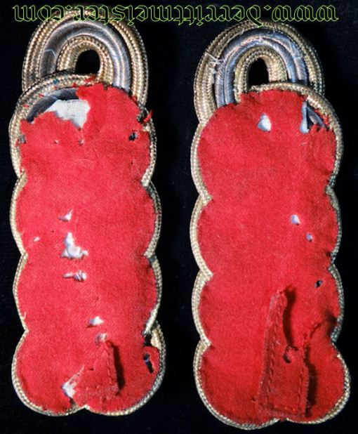BAVARIA - SHOULDER BOARDS - GENERALMAJOR - Imperial German Military Antiques Sale
