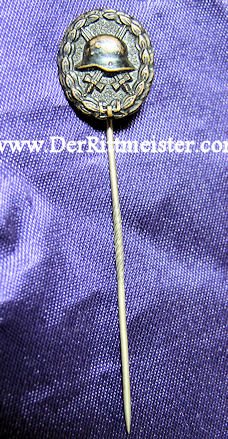 GERMANY - STICKPIN -  ARMY WOUND BADGE - BLACK - 1914 - Imperial German Military Antiques Sale