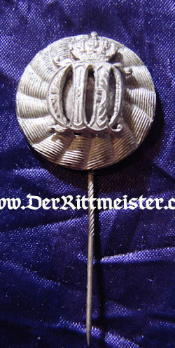 IMPERIAL GERMANY - STICKPIN - KAISER WILHELM II CROWNED CYPHER - Imperial German Military Antiques Sale