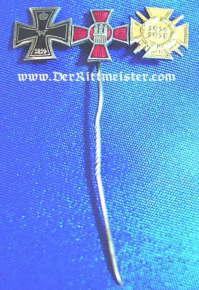 GERMANY - STICKPIN - THREE-PLACE - Imperial German Military Antiques Sale