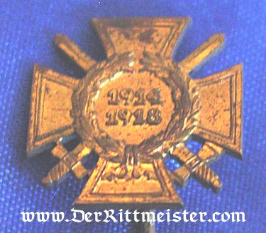 GERMANY - STICKPIN - HINDENBURG CROSS FOR COMBATANT - Imperial German Military Antiques Sale
