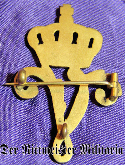 PATRIOTIC PIN - 2. LEIB-HUSAREN-REGIMENT KÖNIGIN VICTORIA von PREUßEN Nr 2 - Imperial German Military Antiques Sale
