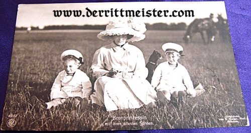 POSTCARD - KRONPRINZESSIN CECILIE - TWO OLDEST SONS - Imperial German Military Antiques Sale