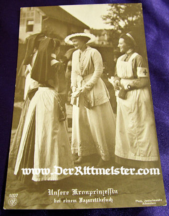 POSTCARD - KRONPRINZESSIN CECILIE - NURSES - Imperial German Military Antiques Sale