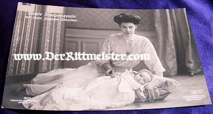 POSTCARD - KRONPRINZESSIN - ONE SON - Imperial German Military Antiques Sale