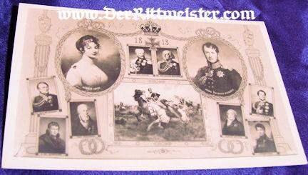 POSTCARD - ONE-HUNDRED-YEARS - KÖNIG FRIEDRICH WILHELM III - KÖNIGIN LUISE - Imperial German Military Antiques Sale