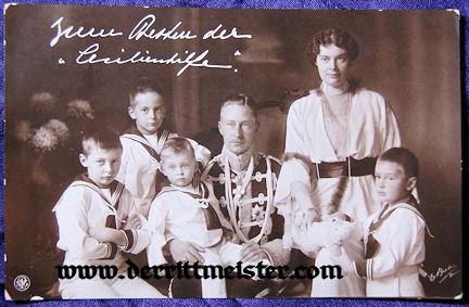 POSTCARD - KRONPRINZ WILHELM - KRONPRINZESSIN CECILIE - FOUR OLDEST SONS - Imperial German Military Antiques Sale