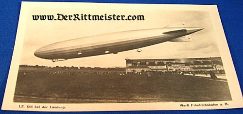 BLACK AND WHITE PHOTOGRAPH - LZ-126 LANDING - Imperial German Military Antiques Sale