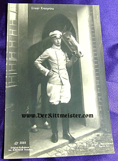 POSTCARD - KRONPRINZ WILHELM - KÜRAßIER-REGIMENT Nr 2 UNIFORM- PRUSSIA - Imperial German Military Antiques Sale