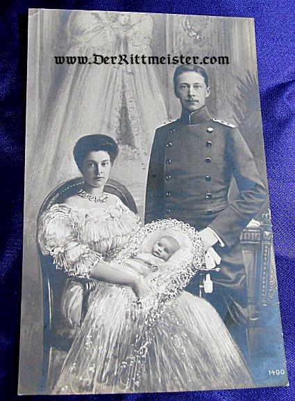 POSTCARD - CROWN PRINCE WILHELM - CROWN PRINCESS CECILIE - PRINCE FRIEDRICH - Imperial German Military Antiques Sale