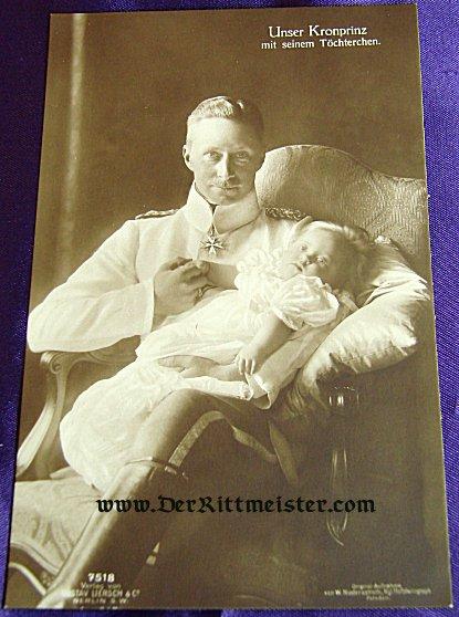 POSTCARD - KRONPRINZ WILHELM - DAUGHTER PRINZESSIN ALEXANDRINE - Imperial German Military Antiques Sale