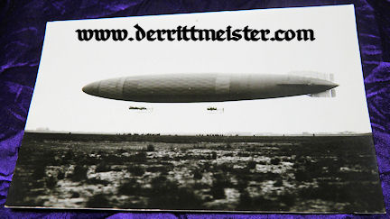 LARGE-FORMAT ORIGINAL PHOTOGRAPH - PRE WW I ZEPPELIN - Imperial German Military Antiques Sale