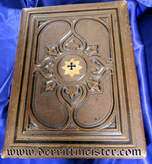 LARGE-FORMAT IRON CROSS COMBINATION PHOTOGRAPH/DOCUMENT ALBUM - Imperial German Military Antiques Sale