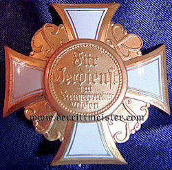 PRUSSIA - STECKKREUZ LAND WAR VETERAN'S ASSOCIATION HONOR CROSS 2nd CLASS - Imperial German Military Antiques Sale