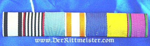 SAXE-COBURG-GOTHA - RIBBON BAR - SEVEN PLACE - Imperial German Military Antiques Sale
