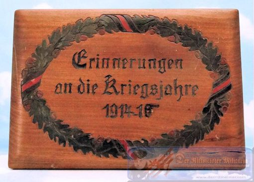 GERMANY - PATRIOTIC BOX - HAND CARVED - Imperial German Military Antiques Sale