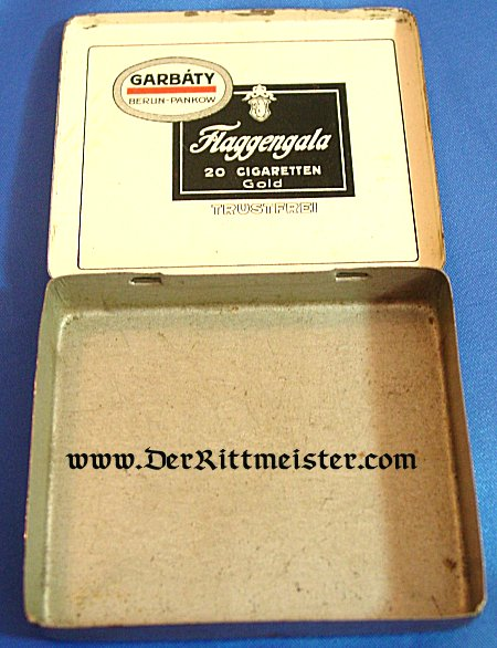 """GERMANY - CIGARETTE TIN - brand """"The Duke of Edinbourgh Flaggengala"""" - Imperial German Military Antiques Sale"""