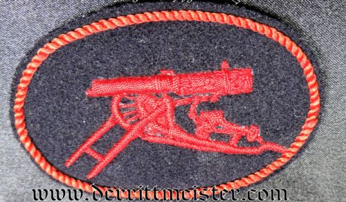 SLEEVE PATCH FOR NAVY MACHINEGUN CREW MEMBER - Imperial German Military Antiques Sale