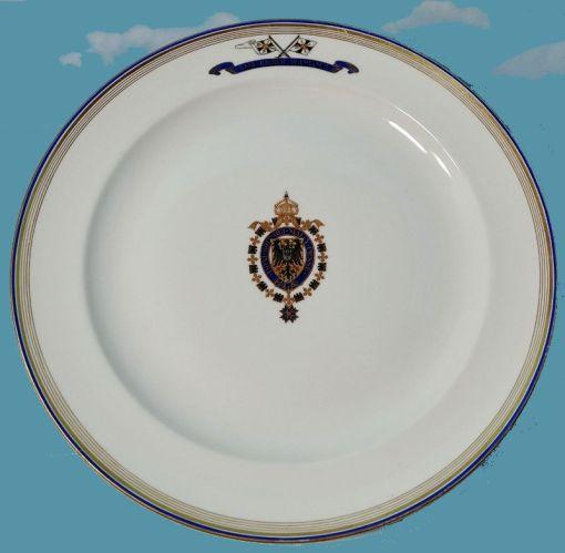 LARGE SERVING PLATTER FROM KAISER WILHELM II's S. M. S. KAISER WILHELM II DINNER SERVICE - Imperial German Military Antiques Sale