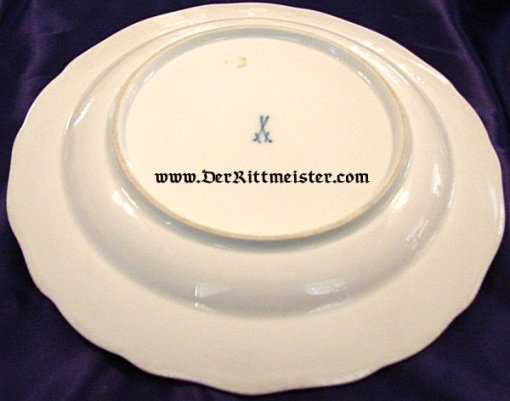 DINNER PLATE - PERSONAL SERVICE - KÖNIG GEORG - SAXONY - Imperial German Military Antiques Sale