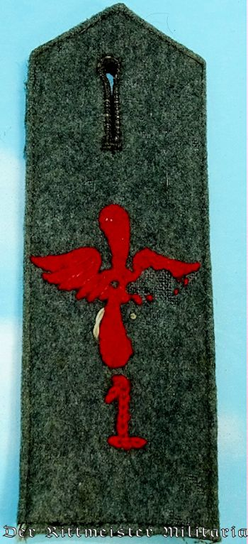 PRUSSIA - SHOULDER STRAP - ENLISTED MAN/NCO - FLIEGER-ABTEILUNG Nr 1 - Imperial German Military Antiques Sale