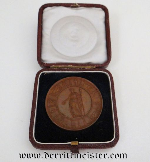 PRUSSIA - TABLE MEDAL - CASED - Imperial German Military Antiques Sale