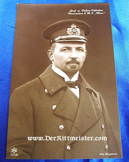 POSTCARD - CAPTAIN - S. M. S. MÖWE - Imperial German Military Antiques Sale