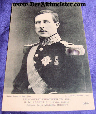 POSTCARD - KING ALBERT - BELGIUM - Imperial German Military Antiques Sale