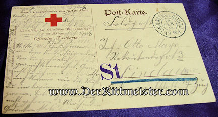 POSTCARD - KRONPRINZ RUPRECHT - BAVARIA - Imperial German Military Antiques Sale