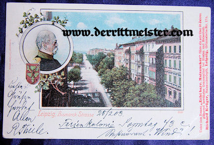 COLOR POSTCARD - OTTO von BISMARCK - Imperial German Military Antiques Sale
