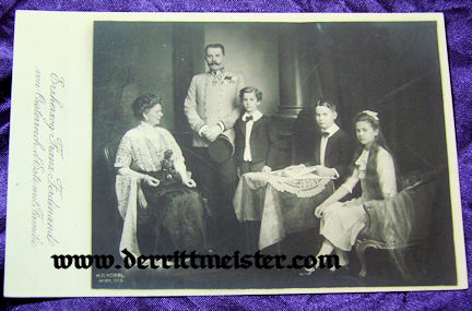 POSTCARD - ERZHERZOG FRANZ FERDINAND - FAMILY - AUSTRIA - Imperial German Military Antiques Sale