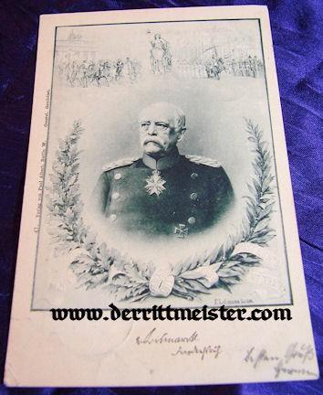 POSTCARD - OTTO von BISMARCK - Imperial German Military Antiques Sale