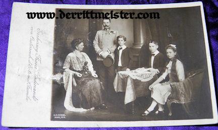POSTCARD - ARCHDUKE FRANZ FERDINAND WITH WIFE & THREE CHILDREN - Imperial German Military Antiques Sale