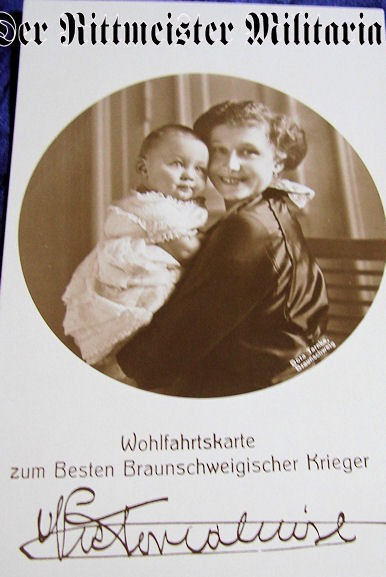 POSTCARD - DUCHESS - BRAUNSCHWEIG - ONE CHILD - Imperial German Military Antiques Sale