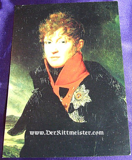 MODERN-DAY POSTCARD - ERBPRINZ FRIEDRICH LUDWIG - MECKLENBURG-SCHWERIN - Imperial German Military Antiques Sale