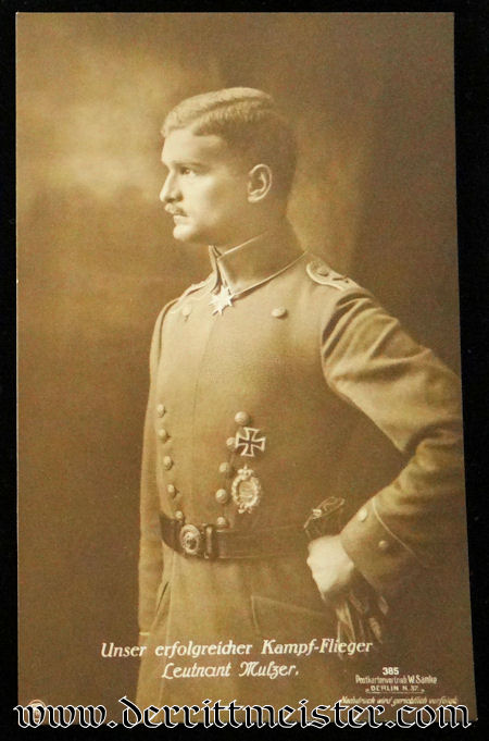 SANKE CARD Nr 385 - PLM WINNER LEUTNANT MAX RITTER von MULZER - Imperial German Military Antiques Sale