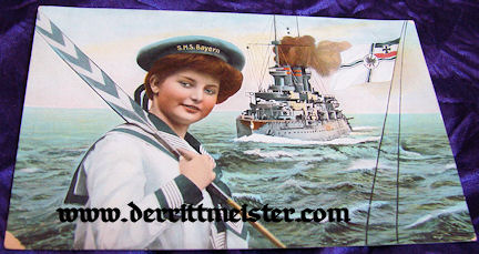 POSTCARD CUTIE - S.M.S. BAYERN - Imperial German Military Antiques Sale