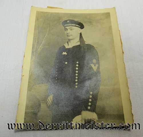ORIGINAL PHOTOGRAPH - S. M. S. METEOR SAILOR - Imperial German Military Antiques Sale